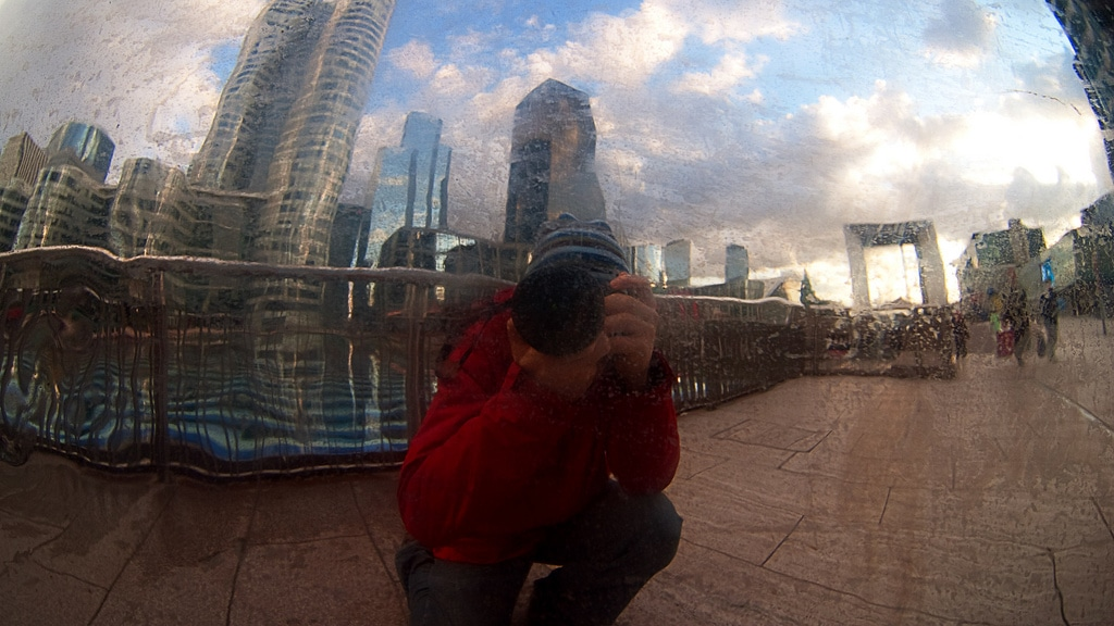 It's me shooting La Défense